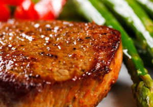 Country Beef Steak with Garlic Butter
