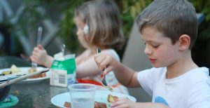 Our Children Enjoying Baked Zucchini
