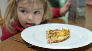 girl with omelette