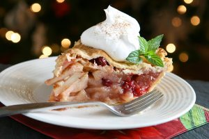 Apple-Cranberry-Pie Slice