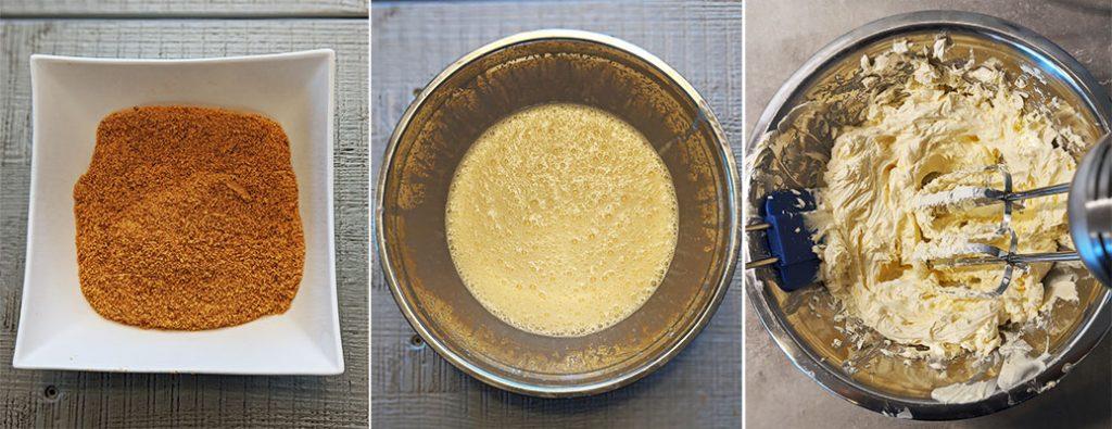 lemon cheesecake preparation