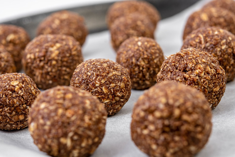 Oatmeal Energy Balls served after preparation