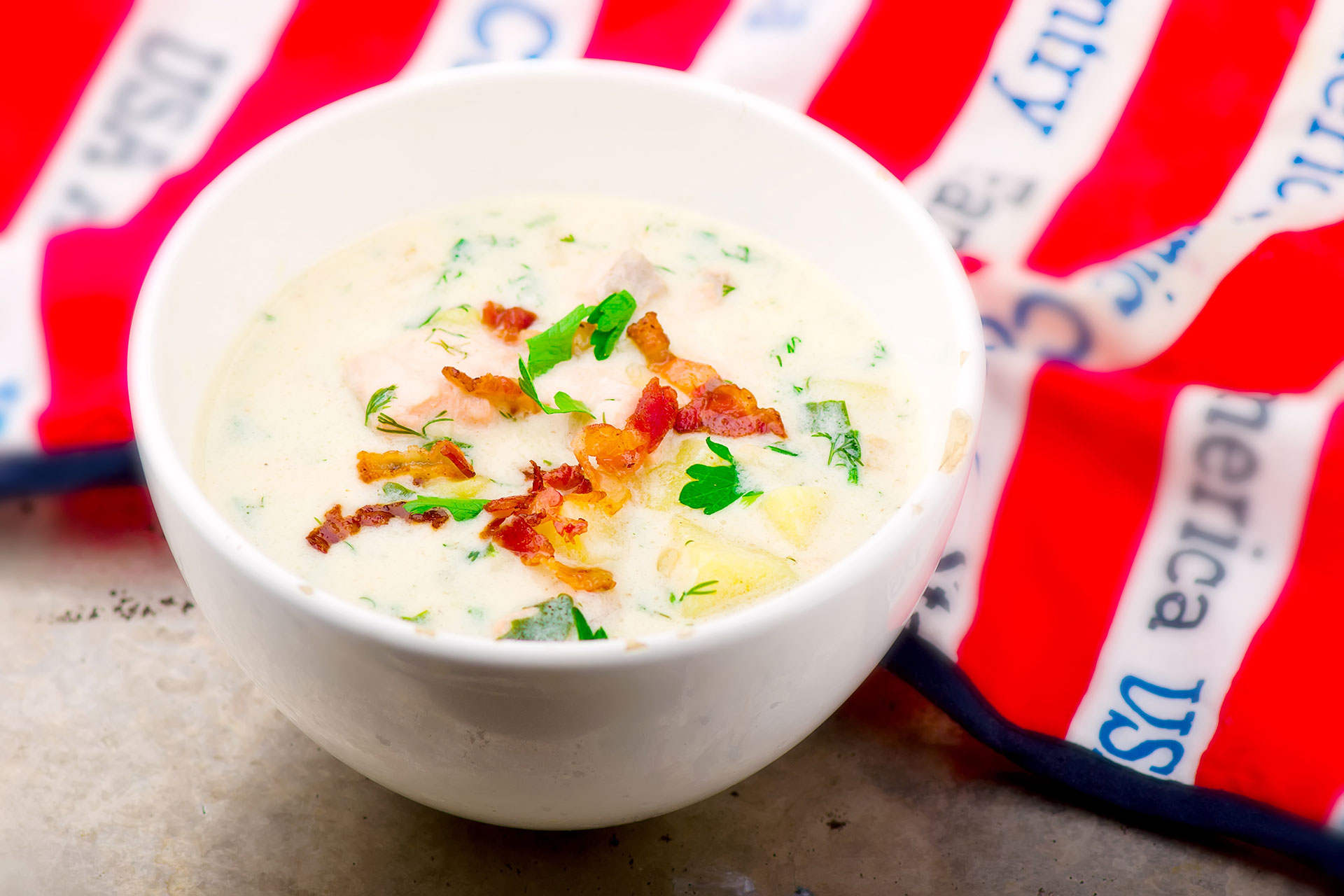 Tuna and Bacon Chowder