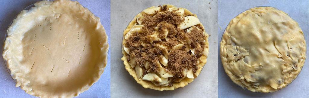 Belgian Apple Pie baking process