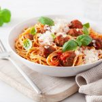 Italian Crockpot Spaghetti and Meatballs