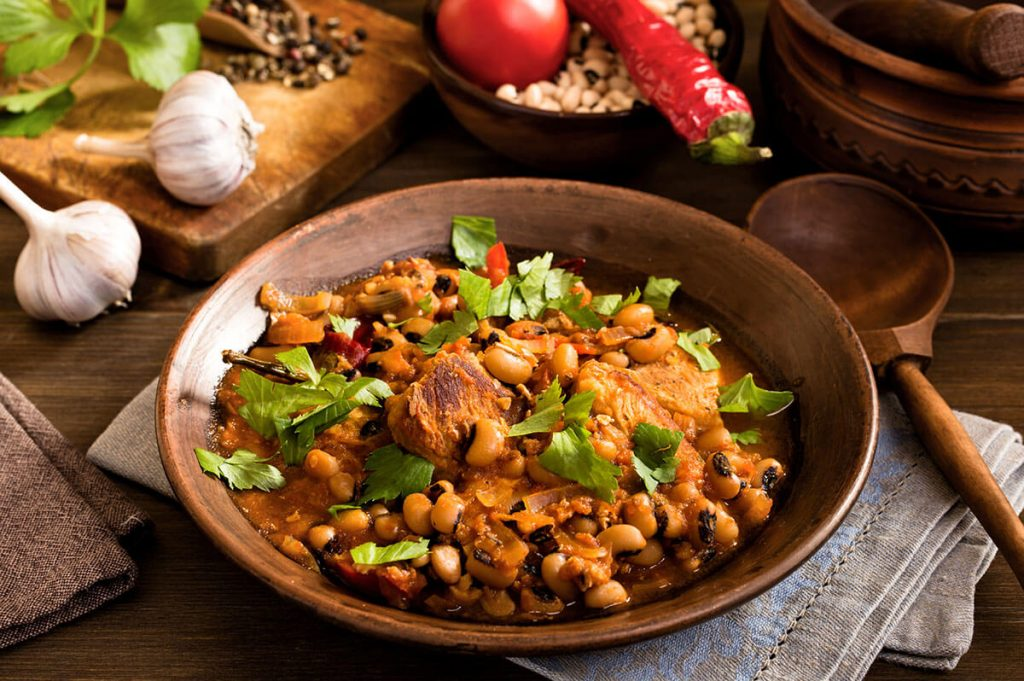Savory Beans and Salt Pork recipe
