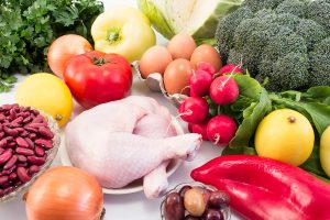 Balanced Healthy Food Recommended for Diabetes